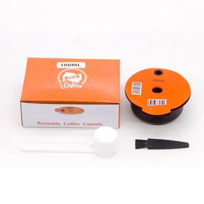 Capsules de café rechargeables, 60ml-180ml, pour Machine à café Tassimo, dosette réutilisable, crème écologique [7834C09]