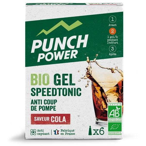PUNCH POWER SPEEDTONIC COLA - BOÎTE 6 GELS