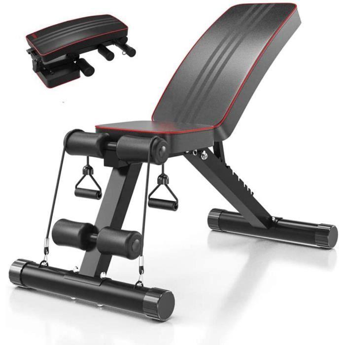 ouii-Chaise de fitness multifonctionnelle pour la maison, adaptée à l'exercice du corps entier, pliable à plat / inclinaison