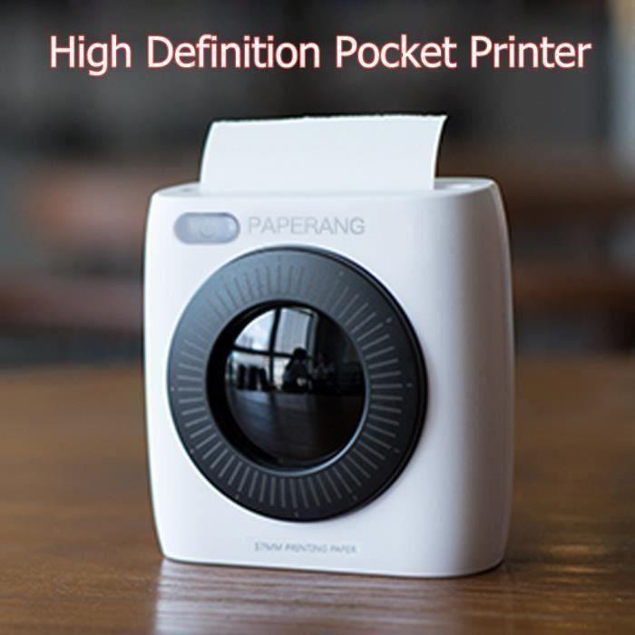 PAPERANG P2 Bluetooth Mini-imprimante de photos avec connexion de photos thermiques
