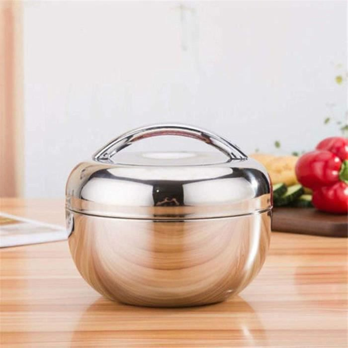 LUNCH BOX xinyawl Boicirctes Alimentaires Isothermes 1L INOX Thermo Isolated Thermal Food Container Bento Round Lunch Box for Ina352