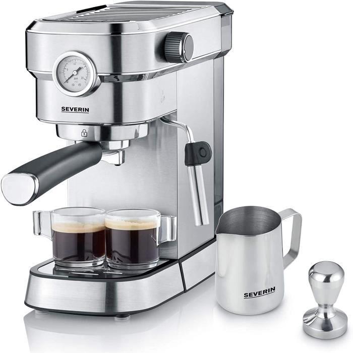CAFETIERE SEVERIN Cafetiegravere Expresso Espresa Plus inclus set professionnel de barista 1 350W 11 L inox brosseacutenoir KA 5751