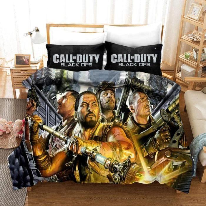 Call of Duty Housse de Couette avec Taie d'oreiller Parure de LitDouce et agréable Confort de Sommeil 200x200CM[1999]