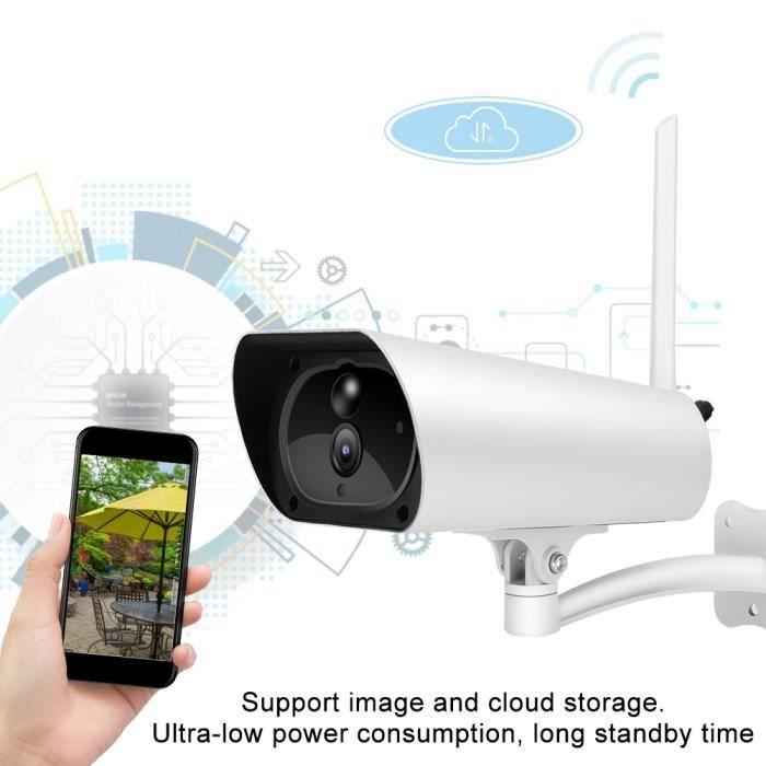 1080P 4G caméra de sécurité à panneau solaire étanche PIR de surveillance à domicile extérieure (canal de l'UE) -NIM