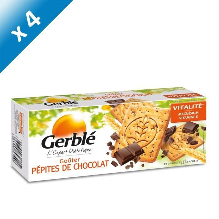 [LOT DE 4] GERBLE Biscuits au pépites de chocolat - 250 g