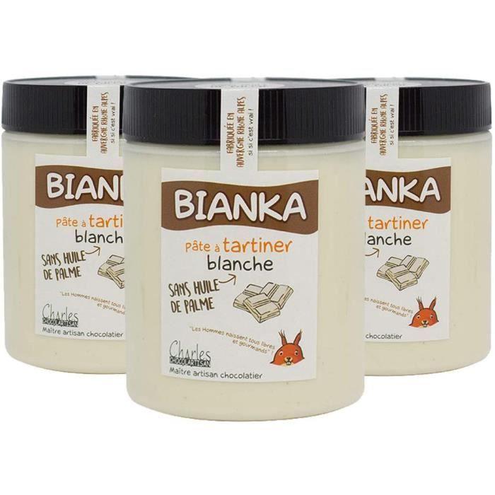 Lot de 3 pots pâtes à tartiner chocolat blanc Bianka - 3x570 g