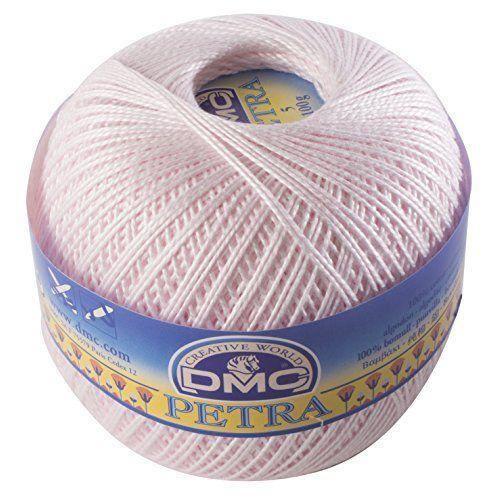 Fil DMC Petra, 100% coton, rose, taille 3