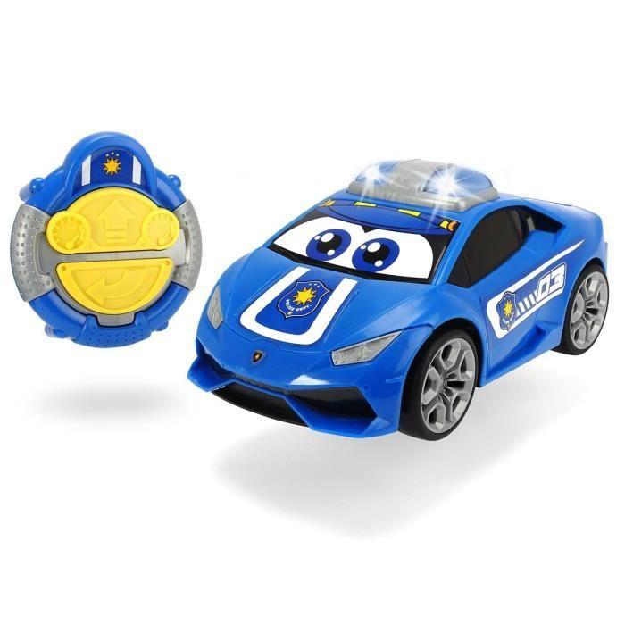 DICKIE - Happy Lamborghini Huracan Police Radiocommandé 27cm