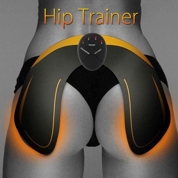 Hanche Muscle Stimulateur, la fesse Électronique Toner Musculaire Machine, EMS Ceinture Massage Musculaire (Batterie chargée)