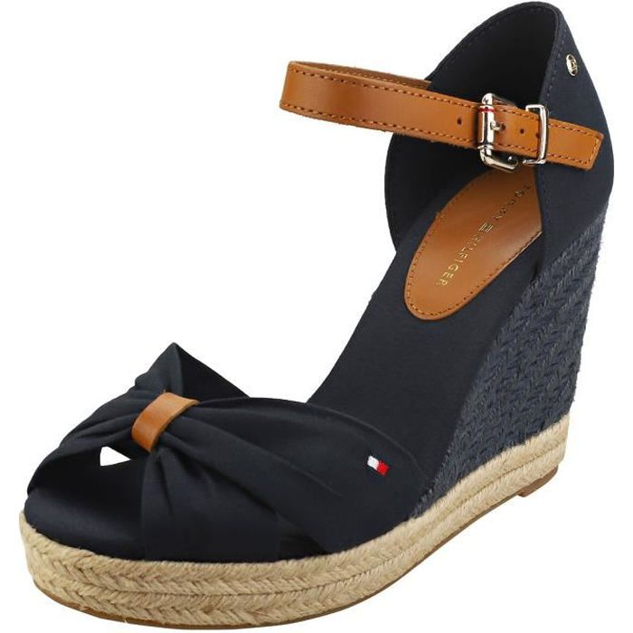 Sandales - Tommy Hilfiger - Basic Opened Toe High - Femme - Bleu