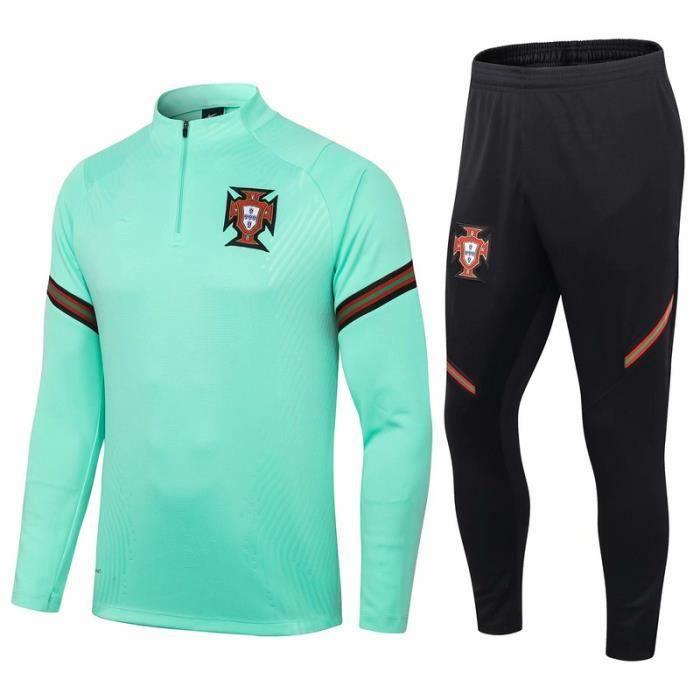 Portugal Maillot de Foot Football Soccer(maillot + pantalon)Kit 2020 2021 Nouveau Survêtement Training Pas Cher  pour Homme