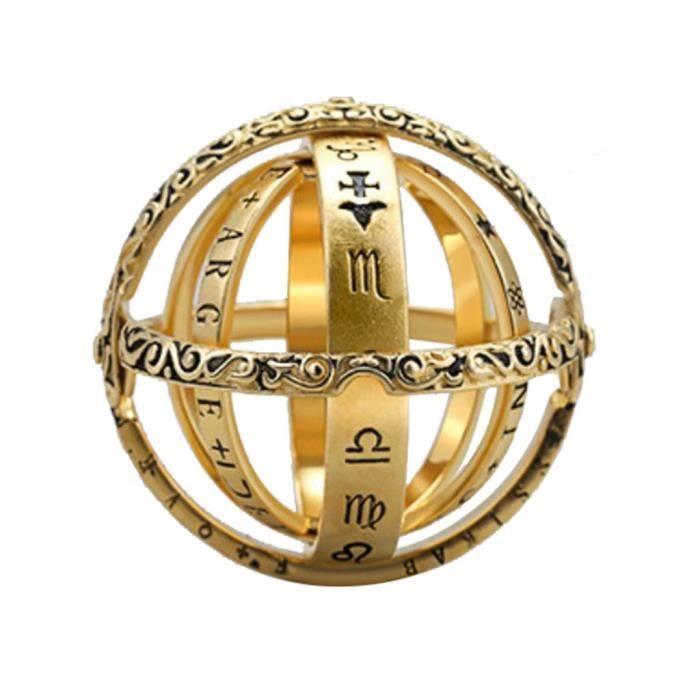 Anneau ouvrable Globe astronomique Anneau Vintage Science Bijoux Or