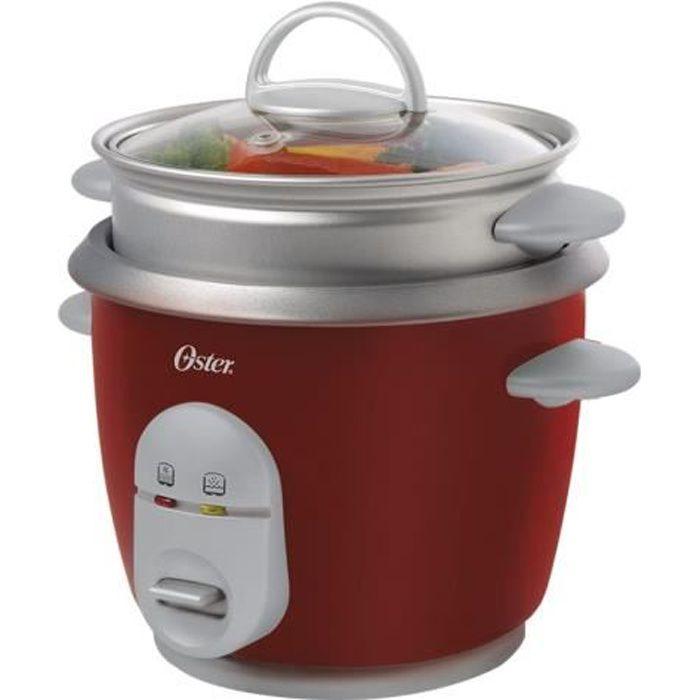 Oster CKSTRC4723-052 Cuiseur à riz-cuiseur à vapeur 1.8 litres 350 Watt rouge
