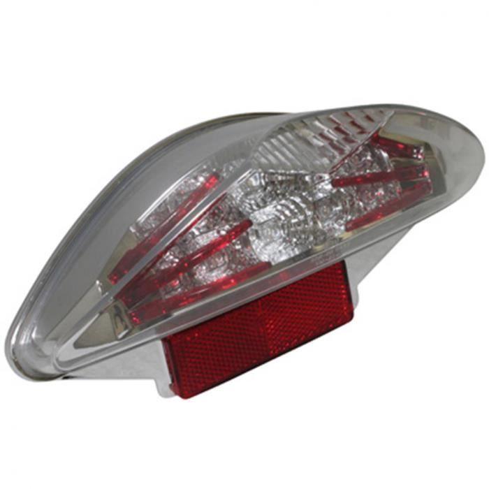 PHARES FEU AR SCOOT REPLAY LEXUS RED A LEDS POUR MBK 50 NITRO-YAMAHA 50 AEROX -HOMOLOGUE CE- (18 LED