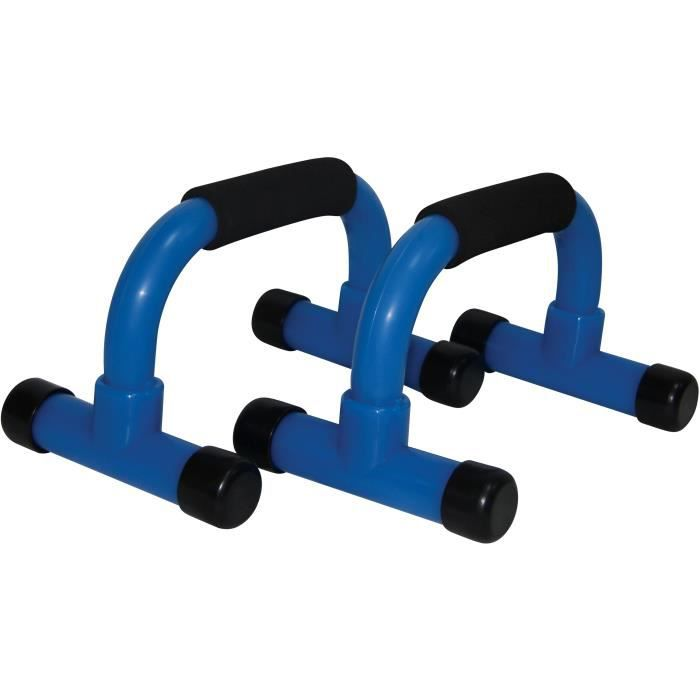 TUNTURI Barres de push-up PVC bleu