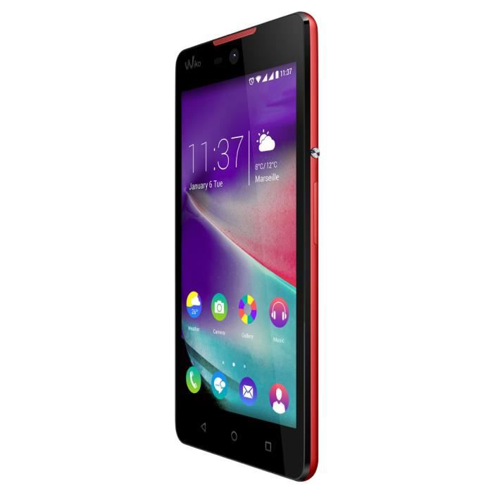 Wiko RAINBOW LITE 4G, 12,7 cm (5-), 4 Go, 5 MP, Android, 5.1, Corail