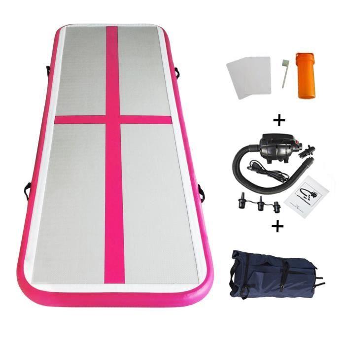 Yoga Taekwondo Entra/înement Sportif Tapis de Gymnastique Gonflable Airtrack avec Tous Les Accessoires pour Gymnaste Pom-Pom Girl