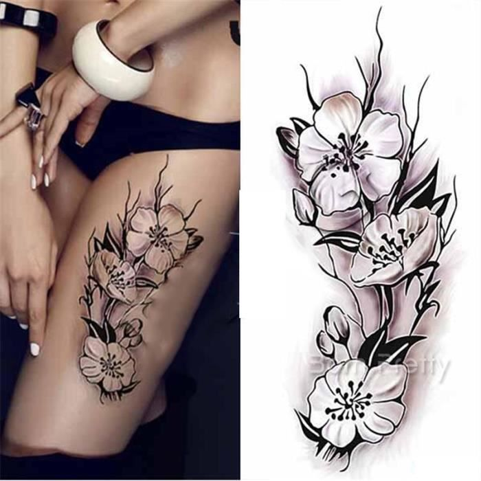 1 pc tatouages eph m res tattoos temporaires imperm ables calycanthe diy dessin achat vente. Black Bedroom Furniture Sets. Home Design Ideas