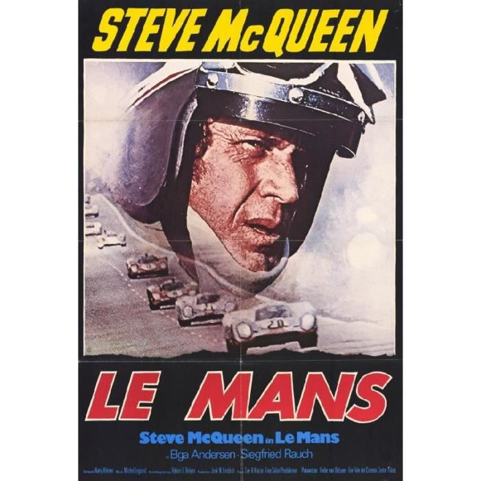 affiche du film le mans mcqueen 69 x 102 cm achat. Black Bedroom Furniture Sets. Home Design Ideas