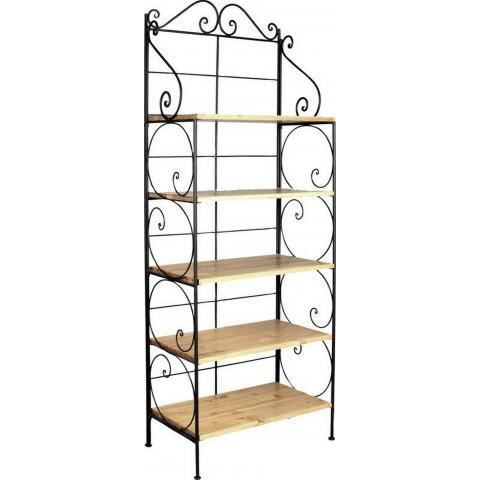 Etag re m tal et pin 5 tablettes achat vente meuble tag re etag re m tal - Etagere metal design ...