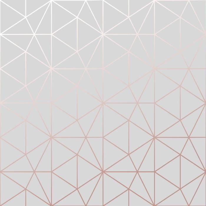 Metro Triangle Fond d'écran géométrique Triangle - Gris et Or Rose - WOW009 - Achat / Vente ...