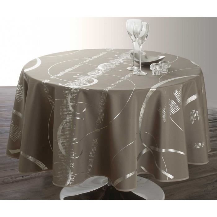 Nappe ronde taupe - Achat / Vente Nappe ronde taupe pas cher ...