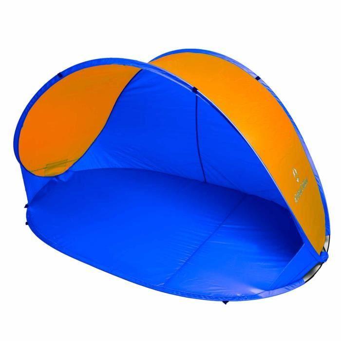 La Plage Coquillage Tente Protection Soleil Vent Tente UV Protection Vert//Orange