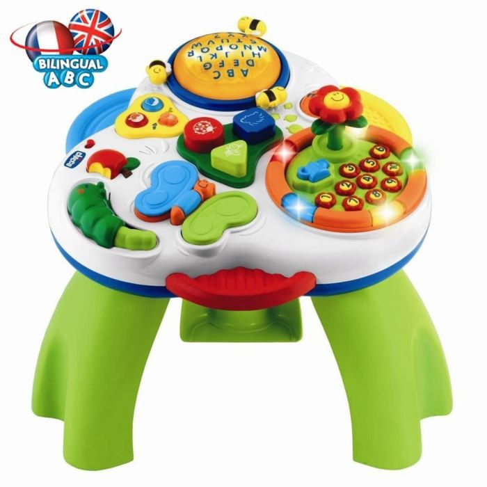 Chicco table jardin d 39 eveil bilingue achat vente table jouet activit chicco table jardin - Table d activite leapfrog ...