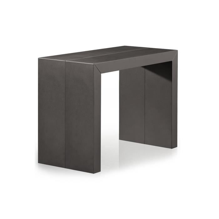 console extensible pas cher 3 rallonges gris ca achat. Black Bedroom Furniture Sets. Home Design Ideas