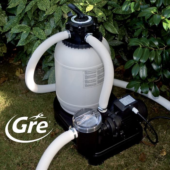 Gre filtre sable 125 watts 3 m3 h achat vente pompe for Pompe piscine sable