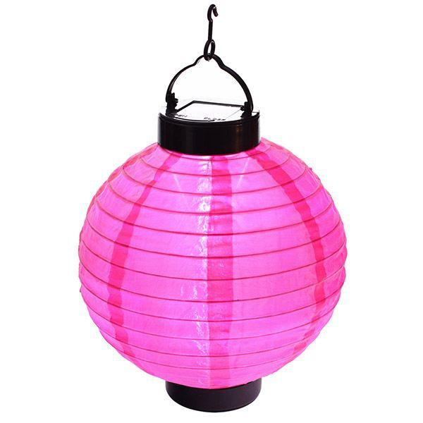lampion lanterne solaire a led jardin fushia achat. Black Bedroom Furniture Sets. Home Design Ideas