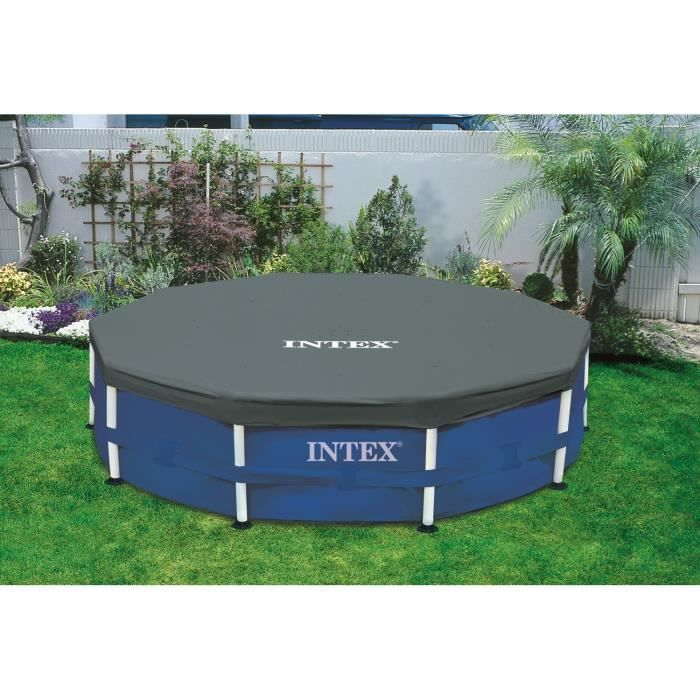 intex b che de protection pour piscine ronde 3 05m achat vente b che couverture b che pour. Black Bedroom Furniture Sets. Home Design Ideas