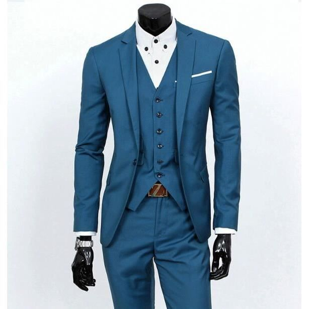 costume de mariage hommes avec pantatlon costumes ensembles noir bleu achat vente costume. Black Bedroom Furniture Sets. Home Design Ideas
