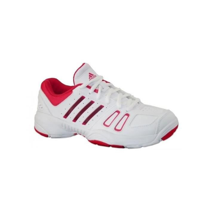 wholesale dealer 03433 40ebb Chaussures ADIDAS Fille Court Edge K Blanche  Rose