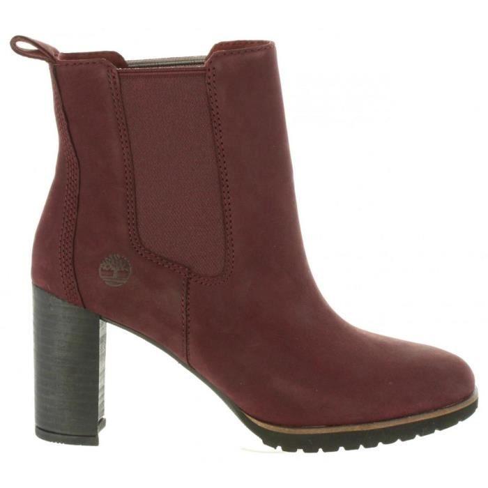 bottes timberland femme rouge