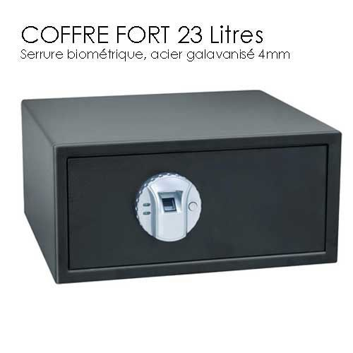 coffre fort 23l empreinte digitale achat vente. Black Bedroom Furniture Sets. Home Design Ideas