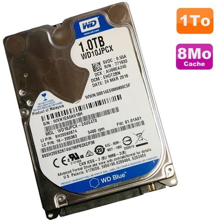 "Disque Dur 1To SATA 2.5"" Western Digital Blue WD10JPCX ..."