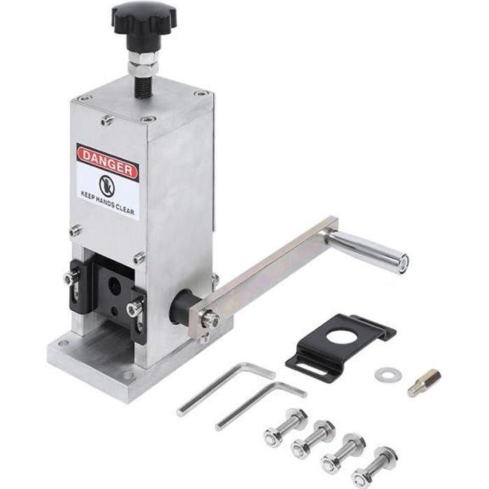 KKmoon Machine /à D/énuder D/écollement de C/âble Ferraille Portable D/épouillement de Fil pour Outil /à Main de 1-30mm