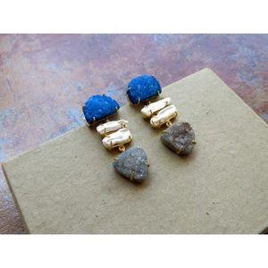 14x30mm Marcassite Silver Drop Dangle Crochet Boucles D/'oreilles Bijoux avec boîte cadeau