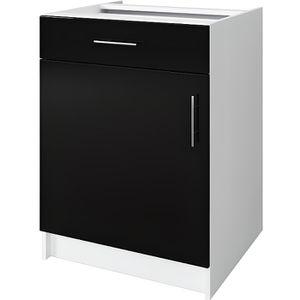 ELEMENTS BAS OBI Caisson bas de cuisine avec 1 porte, 1 tiroir