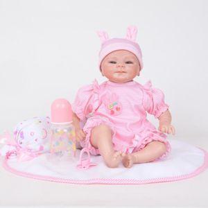 POUPON Poupée Reborn réaliste 45CM Reborn Baby Doll Poupé