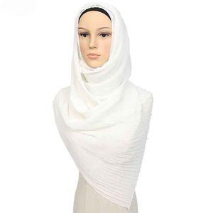 ECHARPE - FOULARD Femmes en mousseline de soie perle écharpe plissée
