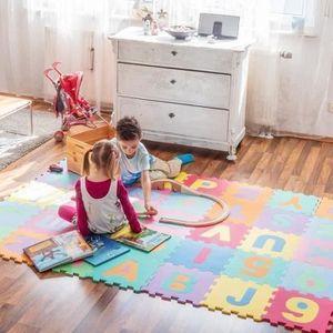 30 cm bébé éveil Puzzle Tapis Doux en Mousse EVA Kids Play Home Tapis Sol Couverture