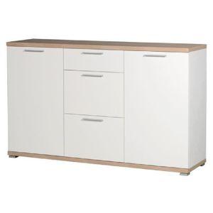 BUFFET - BAHUT  Buffet bas en bois 2 portes 3 tiroirs L144cm TOP -
