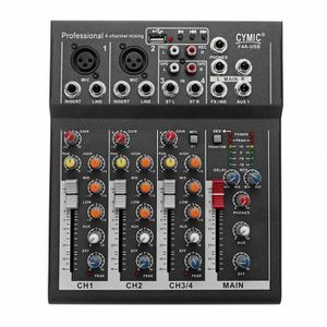 TABLE DE MIXAGE Table De Mixage 4 Canaux Mixeur USB MP3 Jack Audio