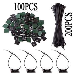 Accessoires câbles 200 Pièces Attaches de Câble 100 pièces Attache-câ