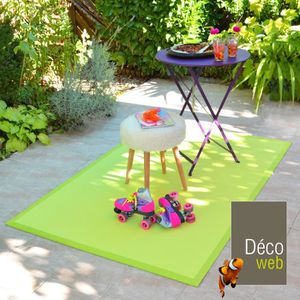 awesome tapis tapis extrieur pvc tress vert pomme x with. Black Bedroom Furniture Sets. Home Design Ideas