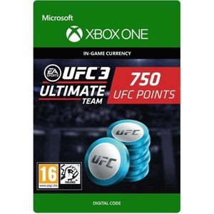 EXTENSION - CODE DLC UFC 3: 750 UFC Points pour Xbox One