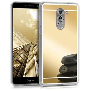 Coque pour Huawei Mate 9 Housse de t/él/éphone en Silicone Blanc-Noir kwmobile Coque Huawei Mate 9