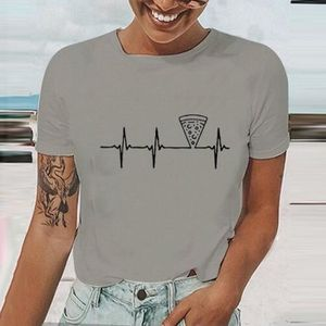 T-SHIRT Les femmes T-shirt d'été Cartoon Casual Imprimer O